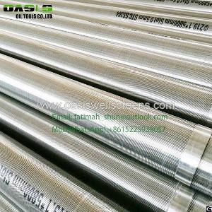 wedge wire cylinder mesh screen slot water drilling