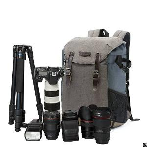 Camera Backpack 15.6 Laptop Compartment And Waterproof Rain Cover For Dslr Cameras And Accessories