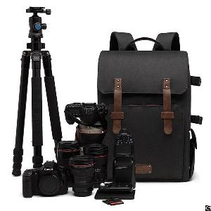 Dslr Backpack Canon Nikon Sony Camera Case With Rain Cover Tripod Mount Fits For 15.6 Inch Laptop