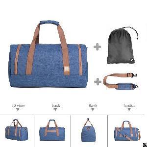 Duffel Bag Large Foldable Weekend Travel Shoulder Handbag Overnight Gym Carry-on With Shoe Bag