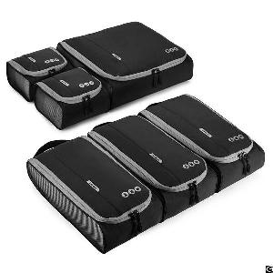 Six Sets Packing Cubes 3 Sizes Portable Travel Luggage Organizer For Carry-on Accessories