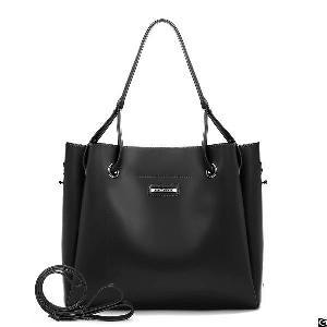handle pu leather satchel women shoulder strap bucket bag fashion purse