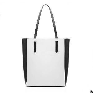 women leather tote bag shoulder bags zip handbag