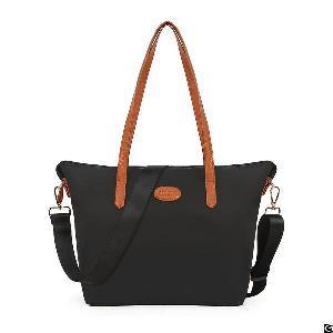 Women Nylon Tote Waterproof Crossbody Bags With Black Adjustable Strap Beach Shoulder Handbag