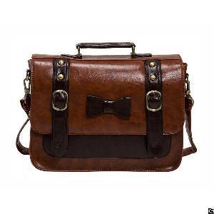 Women Vintage Faux Leather Messenger Shoulder Satchel Weekender Fashion Handbag