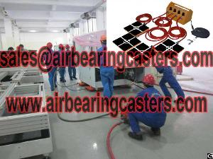 air caster rigging system tool moving machine