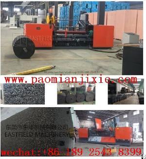 pu bonded epdm granules round block peeling machine sheet roller cutting
