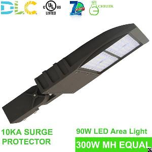 90w-300w Led Parking Lot Lights 100-277vac / 480v Ul Dlc