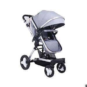 Linen Fabric Baby Stroller Pram Carriage
