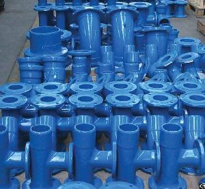 as2280 ductile iron tee socket flange spigot