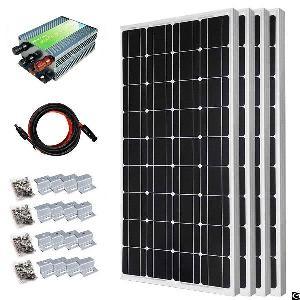 400w grid monocrystalline solar panel starter kit