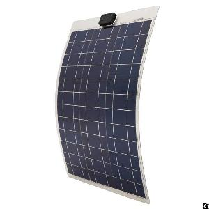 waterproof 50w 12v flexible poly solar panel 1 4m cables
