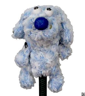 creative handcrafted animal golf club headcover blue rabbit