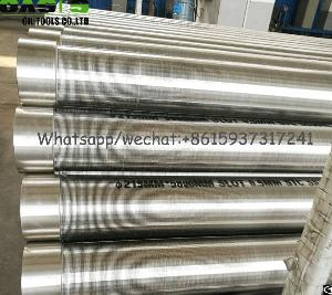 welded aisi 304 slot wire wrapped wedge screens