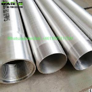 austentic stainless steel welded water casing pipe tube plein inox drilling