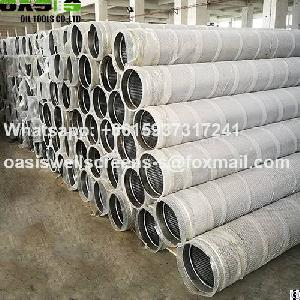 v wire wrap stainless steel 316l slot water screens pipe
