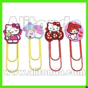 Cartoon Animal Food Car Truck Flower Shape Cute Pvc Bookmark With Clips For Promotional Gifts