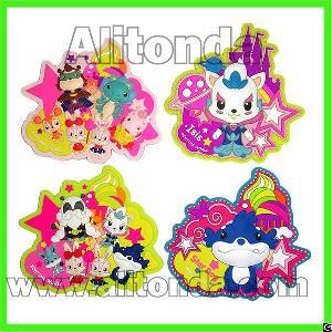 pvc 2d 3d food fruit cartoon animal shape fridge magnets promotional gifts