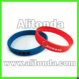 silicone soft promotional wristband