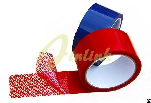 partial transfer tamper proof security void tape