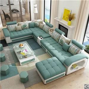 fabric sofa modern minimalist apartment living room furniture removable washable