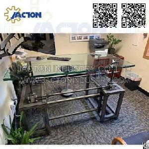 industrial crank mechanism dining bar table manual lifting jacks screw handwheel