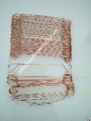 welded loop tie wire copper coated concrete binding