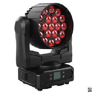 19x15w rgbw led zoom moving head ring control