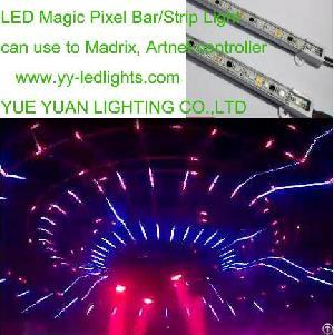led pixel linear bar light madrix artnet spi music controller