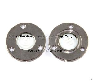 steel fused flange sight glass nickel plated refrigeration oil separator