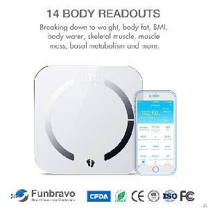 funbravo bluetooth smart body fat scale health monitor bh20e factory