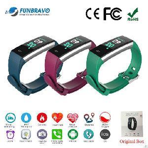 funbravo hr smart bracelet fitness tracker ip67 waterproof sw188 men women kids