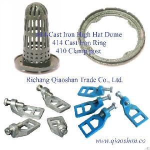Qsf414 Cast Iron High Hat Dome 414 Cast Iron Ring 410 Clamp Post For Roof Drainage