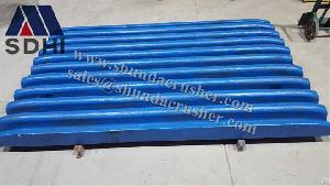 Metso Nordberg C125 / 140 / 160 Jaw Crusher Plate Teeth Plate High Manganese Steel Wear Resistant Pa