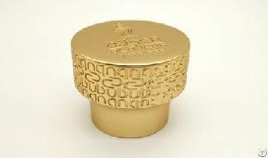 Matt Gold Zamac Perfume Cap