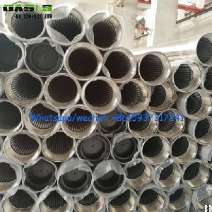 Rod Based Continuous Slot Johnson Wire Wrapped Screen Tube / Wedge Wire Screen Pipe