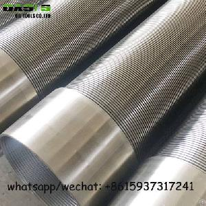 Stainless Steel V Slot Wedge Wire Water Well Pipe Screens