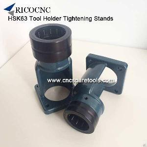 hsk63 tool holder locking bt40 toolholder clamping stands iso40 tightening