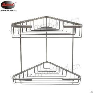 Hyland Dual Tier Corner Shelf For Bathroom Wall