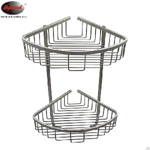 hyland wall mounted stainless steel 2 tier triangle basket
