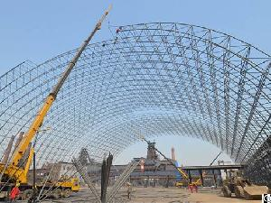 light steel space frame metal roof coal storage dry shed
