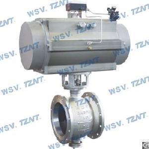 pneumatic v port titanium ball valve
