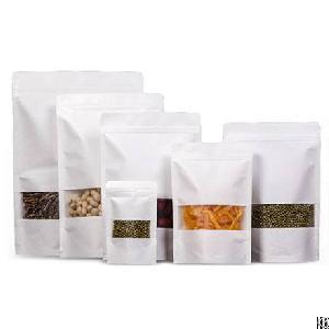 ziplock brick tea packing bag stand up pouch kraft paper