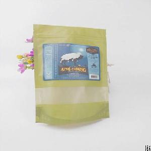 flat bottom stand up plastic bags food packaging