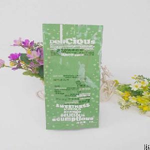 plastic quad seal coffee bag packaging