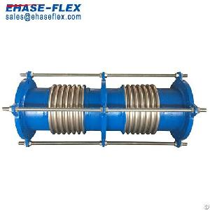 dual pipe expansion joint axial movement compensation