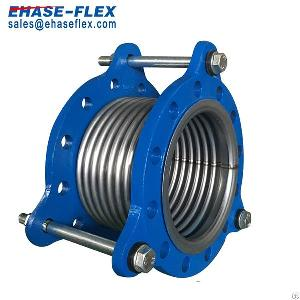 flange joint flexible metal corrugated hose pipe