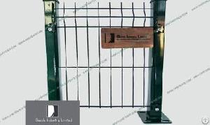 Welded Wire Mesh Fence Rigid , 3d Bending Wire Fence Panel