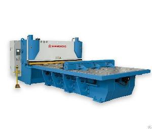 cnc front feeding hydraulic guillotine shear machine