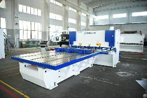 cnc hydraulic guillotine shears front feeding robot